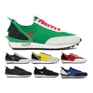 2021 Daybreak Mens Women Running Shoes LDV Waffle Obsidian Black Sail Blue Jay Bright Citron Lucky Green Red Athletic Tenis Trainers Shoes