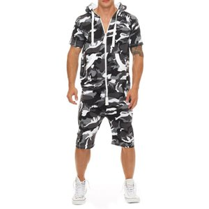 Piece Designer Shirts Sports Sets Shorts Casual Outfits Mens Summer Conjoined Hooded Suits Fashion Panelled Tracksuits One