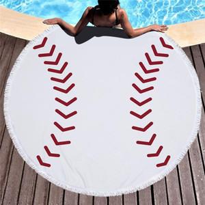 2021 Custom Printed Logo Microfiber tassels beach Towel cotton Super Absorbent cartoons print round beach towels custom print