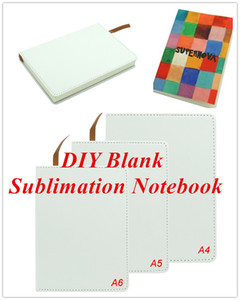 Blank Sublimation Notebook A4 A5 A6 Sublimation PU-Leather Cover Soft Surface Notebook Hot transfer Printing Blank consumables DIY Gifts new