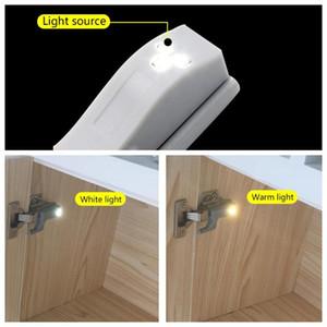10Pcs 12V LED Smart Touch Induction Cabinet Light Cupboard Inner Hinge Lamp Sensor Light Night for Closet Wardrobe