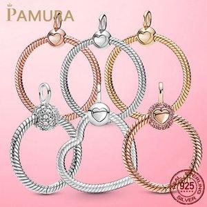 925 Sterling Silver O Pendant Fit Collana originale Pamura Collana di fascino di fascino fai da te regalo gioielli
