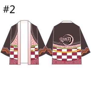 Demon Slayer Kimono Cardigan Shirt Anime Cosplay Cloak Plaid Coat Cute Kamado Nezuko Shirt Halloween Cosplay Costume 9 Types