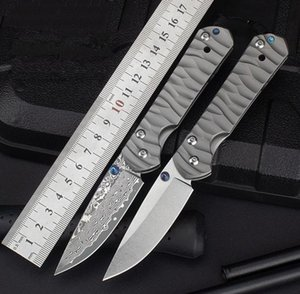 CR Pocket Folding Knife D2 Damascus Blade Wave Titanium Alloy Handle Tactical Rescue Hunting Fishing EDC Survival Tool Knives