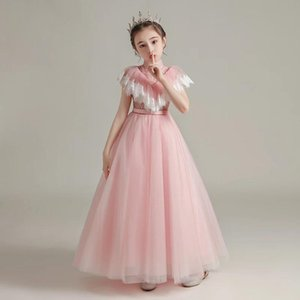 Girl's Dresses Girl Flower For Weddings Tulle Lace Appliques Princess Dress Sleeveless Kids Party Communion