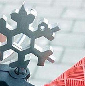 Copo de nieve Multi Herramienta 18 en 1 Llave de copo de nieve Abres de botellas Multi Llavero Multi Key Bike Fix Tool Christmas Snowflake regalo 66 S2