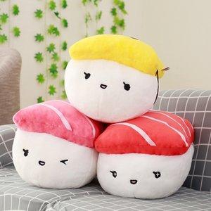 Creative Japan Sushi Shape Plush Toys Stuffed Soft Sofa Pillow Kawaii Cushion Simulation Food Doll Gift for Girls Kids Home Deck