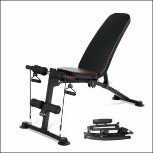 Benches Equipments Fitness Supplies Sports & Outdoorsgym Adjustable Weight Bench Foldable Incline Decline Fl Body Workout Chair Drop Deliver
