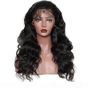 طويل الجسم الطبيعي موجة 360 الرباط الباروكات شعر الإنسان شعر مستعار قبل التقطه شعري مع شعر الطفل اللون الطبيعي 130٪ ~ 180٪ الكثافة للنساء السود