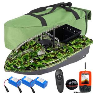 500M Wireless RC Pesca Bait Set Gancho / Cebo Post 2 Motors Single Mano Control y GPS Fishfinder Set / Bag / Baterías Pesca
