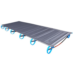 Camping Mat Cot Wood Grain Aluminum Portable Folding Bed Bracket Outdoor Travel Single Office Rest