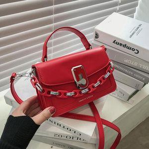 Bolsos CON ASA 2021 Мода Сумки для цепных цепей для женщин Сумка Messenger Designer вдохновленная сумка из кожи Small Crossbody