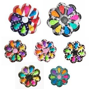 버블 포퍼 꽃 보드 감각 fidget spinners 장난감 해바라기 모양 푸시 거품 접시 감압 장난감 손가락 손가락