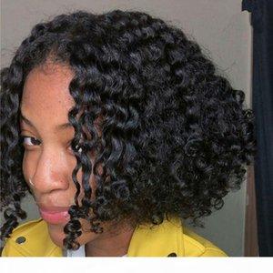 130 Densité Noir Couleur Bob Straight Wave Dentelle Perruques Frontales Avec Pre Vierge Brésilienne Vierge Brésilienne Human Hair Perruques de dentelle Navire aux Etats-Unis