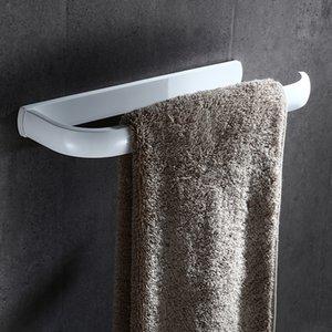 2021 New European Style Fashion Brass White Ring Square Bath Rings Accessories Rack Bathroom Towel Bar Jmvk