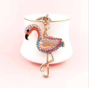 2021 Мода аксессуары Женщины брелок мультфильм металл с бриллиантами Фламинго высочайшее качество 3 цветов на складе Epacket бесплатная доставка