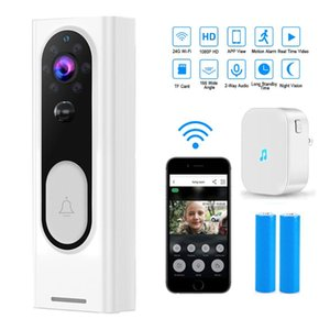 1080P HD Video Doorbell WiFi Wireless Visual Camera Infrared Alarm Security Intercom Smart Home Security Alarm System