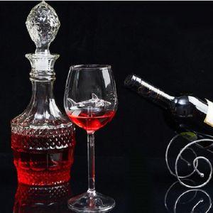 Simplicidade em pé copo originais tubarão original elegância elegância elegância borossilicate borossilicato mulher bebida homem bebida vinho vermelho blue blub 10 8ly k2