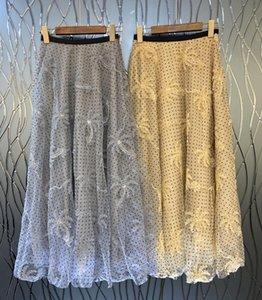 120 2021 Runway Half Skirt Spring Summer Brand Same Style Half Skirt Mesh Womens Clothes Flora Print Fashion Empire Jiani