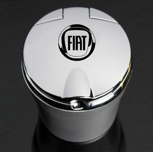 With Led Lights car Creative Personality ashtray for Fiat Aegea 500c Panda Uno Palio Tipo Doblo car Emblem Auto Accessories C0223