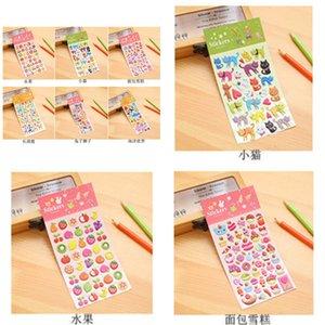 Children's Cute Cartoon Sticker Kindergarten Reward Animal Fruit Baby Plane Three-dimensional FZKD723