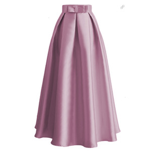 Plus Size Skirts Faldas Mujer Moda 2021 Abaya Dubai Turkish Long Pleated Maxi High Waist Skirt Women Jupe Longue Femme Skirts Cx200703