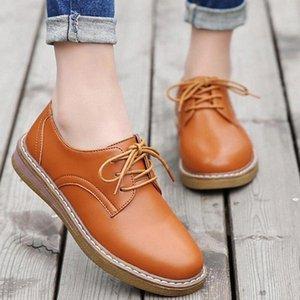 2020 autunno donne piattaforma piattaforma scarpe Oxfords moda stile britannico signore per il tempo libero scarpe singole femmina lace up calzature kl224 verde sh p1ep #