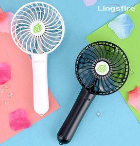 Электрические вентиляторы Мини Портативный вентилятор Охлаждение воздушного охлаждения USB Путешествия Персональный портативный с 18650 Регулируемый аккумулятор Регулировка передач Ветер
