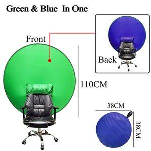Screen Green Schermo Corma Tasto Sfondo Sfondo Materiale Piegatrice Portatile Riflettore per trasmissione in diretta Video Round 2in1 Pannello sedia