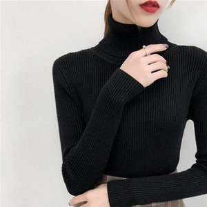 Knitted Jumper Autumn Winter Tops turtleneck Pullovers Casual Sweaters Women Shirt Long Sleeve Short Tight Sweater Girls 1203