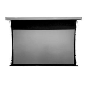 Проекционные экраны высокого класса 72-дюймовый моторизованный вкладки натяжение экрана натяжения для длинных бросок проекторов 4K 3D поддерживается