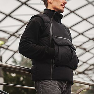 Mens Sports Colete Techwear Sportswear WindRunner Jaqueta Colete Full Zip Multi-Pockets Utility Coletes Outono Outono Casacos Ao Ar Livre para Homens Mulheres