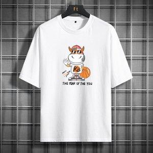 Роскошный дизайнер футболка Мужская трексуита S Одежда Летняя рукава одежды