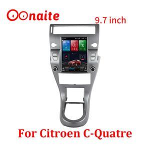 Car Navigator For Ciyroen C-Quatre 9.7 Inch Vertical Screen Android 10 Big Frame HD DVD Video Player Smart Voice Radio GPS Navigation