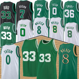 nba Jersey Boston Celtics 0 Jayson Tatum 8 Kemba Walker 33 Larry Bird 7 Jaylen Brown 36 Marcus Smart basketball jersey men nba basketball jerseys top
