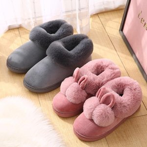 House Home Slippers Fur Furry Slides Sandals Cute Comfort Ladies Sandles For Women Casual Shoes Female Claquette Fourrure 2021