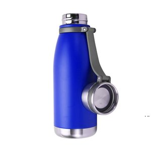 22 oz Stainless Steel Vacuum Insulated Water Bottle Double Walled Cola Shape Thermos Metal Sports Water Bottle HWA3820