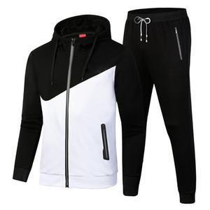 Tracksuit Men Set Fashion Sportswear Sweatsuit Male Sweat Track Suit Jacket Hoodie with Pants Mens Sporting Suits fashion Jogging Suits
