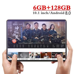 10.1 Inch 4G LTE Phone Call Tablets Octa Core Tablet Pc Android 8.0 Tablet 6G Ram+128GB Rom Dual SIM Pc FM WiFi GPS