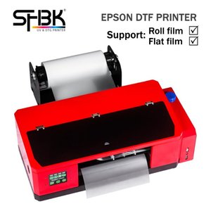 Printers A3 DTF Printer Support Roll And Flat PET Film Printing T-shirt Clothes Leather Direct Thermal Transfer White Ink Press Machine