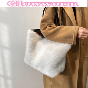 Autumn and winter fashion plush tote bag in 2021 Autumn and winter new women 's designer large - capacity one - shoulder handbag
