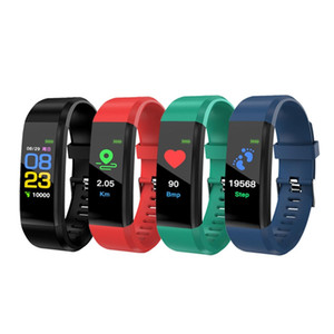 ID115 Plus Smart Bracelet Fitness Tracker ID115HR Watch Heart Rate Watchband Smart Wristband For Android Cellphones With Box Fitbit MI
