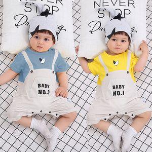Каждый ребенок ползунки летние мальчики и девочки младенческие новорожденные комбинезон младенца гриль мальчик одежда хлопчатобумажные розыгрыши odysies outfits одежда Q0201