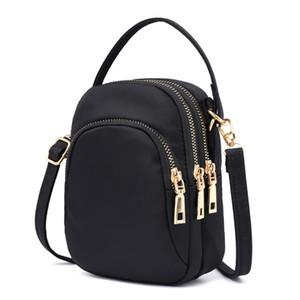Women Zipper Fashion Shopping Lightweight Cellphone Travel Outing Crossbody Bag Multi Pockets Work Waterproof Nylon Mini Purse