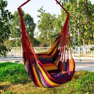 Silla de swing de ocio al aire libre Silla mecedora interior Hamaca Swing Asiento de viaje Camping Hammock Garden Hang Swinging