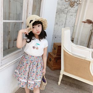 2Pcs Set Toddler Kids Baby Girl Designers Clothes Kids Girls Set Short Sleeve Autumn T-shirt Tops+Mini Skirt Outfit Kids Girls Clothes