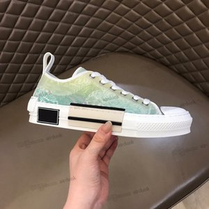 luxury brand Designer shoes B23 Sneakers High Low Oblique Bee Mens Sneaker Technical Canvas Leather Women Casual Shoe top Quality with box Luxurys Trainers size 35-44