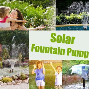 TWCH 7V 1.2W Solar Pump Garden Plants Watering Kit Fountain Water Pump Square Panel Solar Water Fountain