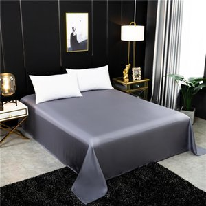 Sheets & Sets High Quality Flat Sheet 100% Mulberry Silk Solid Color Bed Real Queen King Size Bedding Customizable