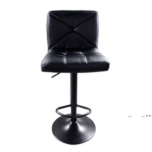 Bar Stools, 2pcs Crossover Backrest Design High Tools Type Adjustable Chair Disk Dining Counter Pub Chairs by sea FWE9557
